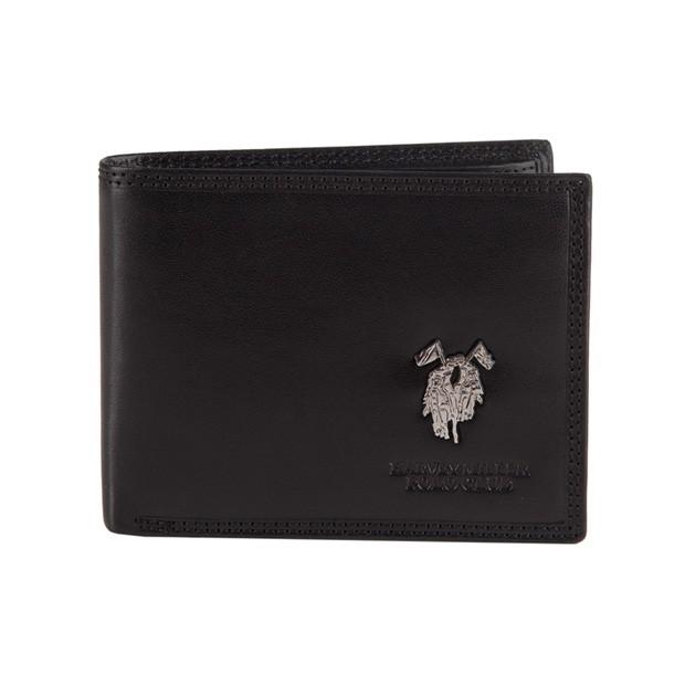 66ed4a506c93d Harvey Miller - Skórzany męski portfel czarny (3820-292E)