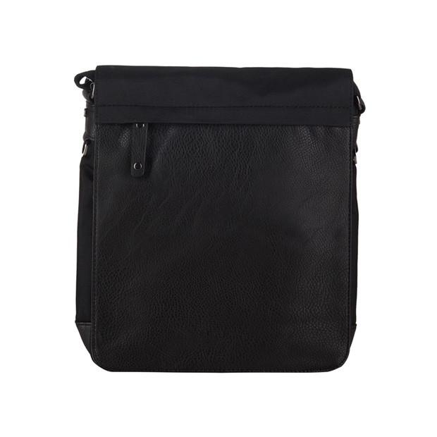 Poważnie Bever's - Męska duża torba listonoszka na ramię czarna A4 (114-6) UH77