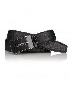 Pierre Cardin - elegancki pasek skórzany czarny 115cm (cintura 522 hy07)