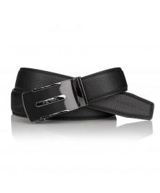Pierre Cardin - elegancki pasek skórzany czarny (cintura 522 hy07)